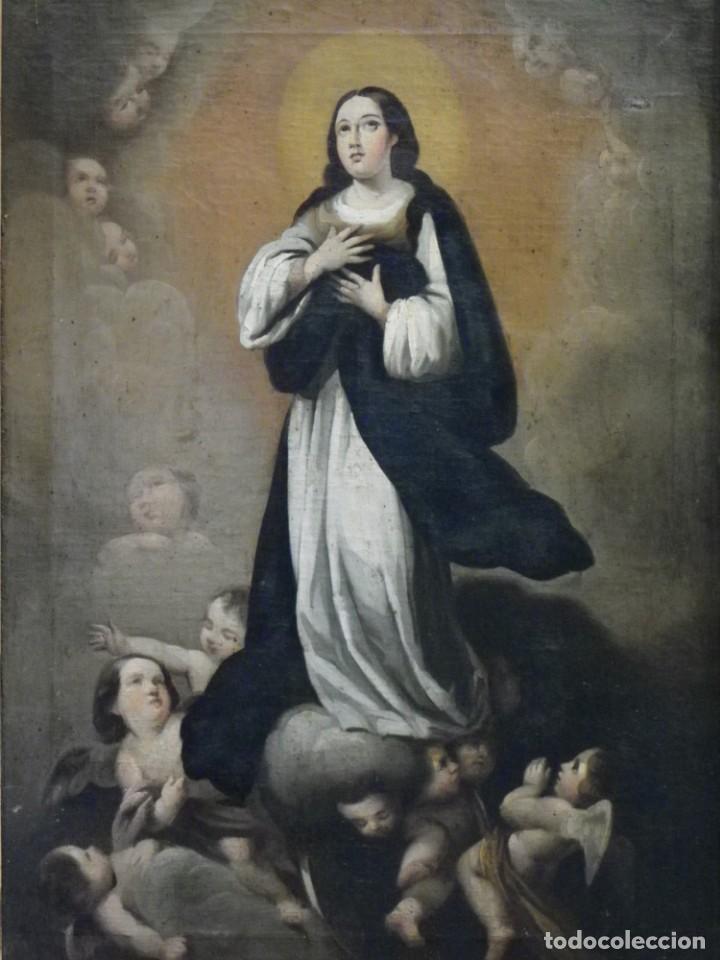 INMACULADA CONCEPCIÓN ÓLEO SIGLO XIX (Arte - Arte Religioso - Pintura Religiosa - Oleo)