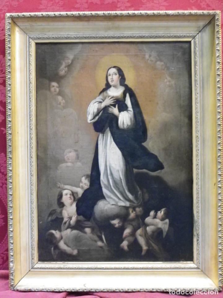 Arte: Inmaculada Concepción óleo siglo XIX - Foto 2 - 138806234