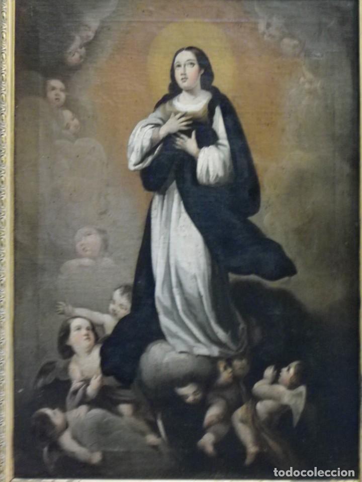 Arte: Inmaculada Concepción óleo siglo XIX - Foto 3 - 138806234