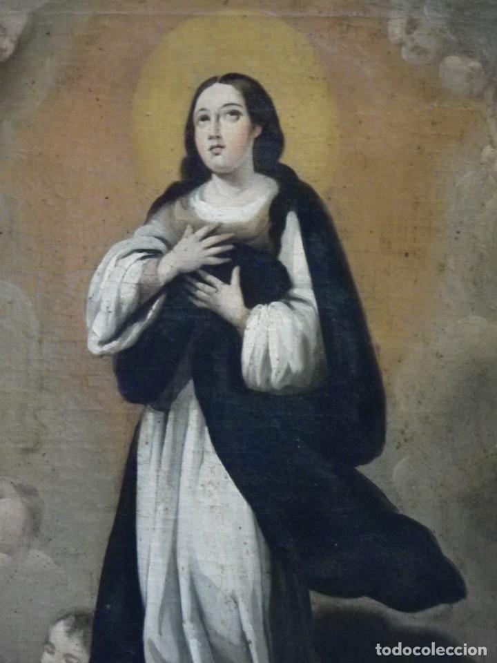 Arte: Inmaculada Concepción óleo siglo XIX - Foto 4 - 138806234