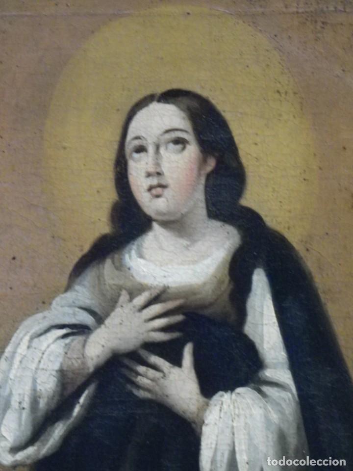 Arte: Inmaculada Concepción óleo siglo XIX - Foto 9 - 138806234