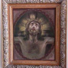 Arte: ANTIGUA PINTURA TAPIZ. CRISTO DE LA AGÓNIA.. Lote 138940202