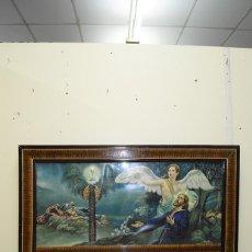 Arte: LÁMINA ANTIGUA RELIGIOSA JESÚS NAZARENO CON EL ÁNGEL . Lote 138965406