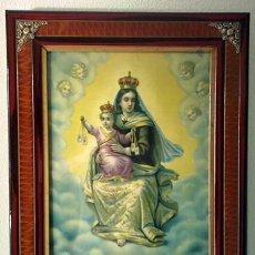 Arte: MARCO ANTIGUO DE LA VIRGEN DEL CARMEN. Lote 138966198