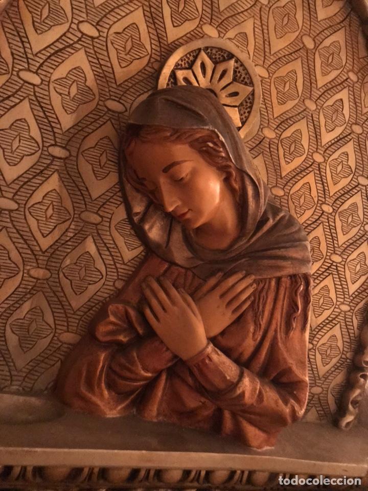 IMPRESIONANTE CAPILLA CON IMAGEN DE LA VIRGEN (Arte - Arte Religioso - Retablos)