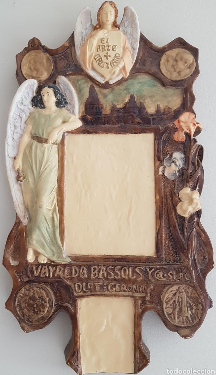 ARTE CRISTIANO OLOT - PLAFÓN,VAYREDA.PASTA DE MADERA.GERONA.SXX.RARO. (Arte - Arte Religioso - Escultura)