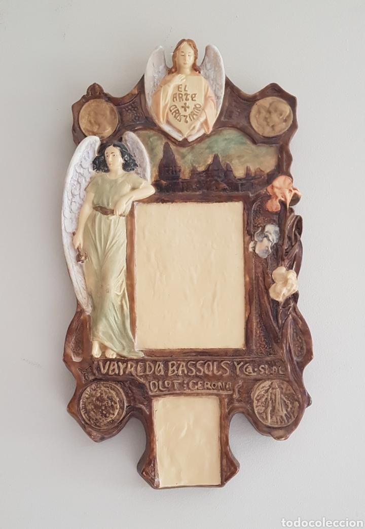 Arte: Arte Cristiano olot - Plafón,Vayreda.Pasta de madera.Gerona.SXX.Raro. - Foto 2 - 139039180