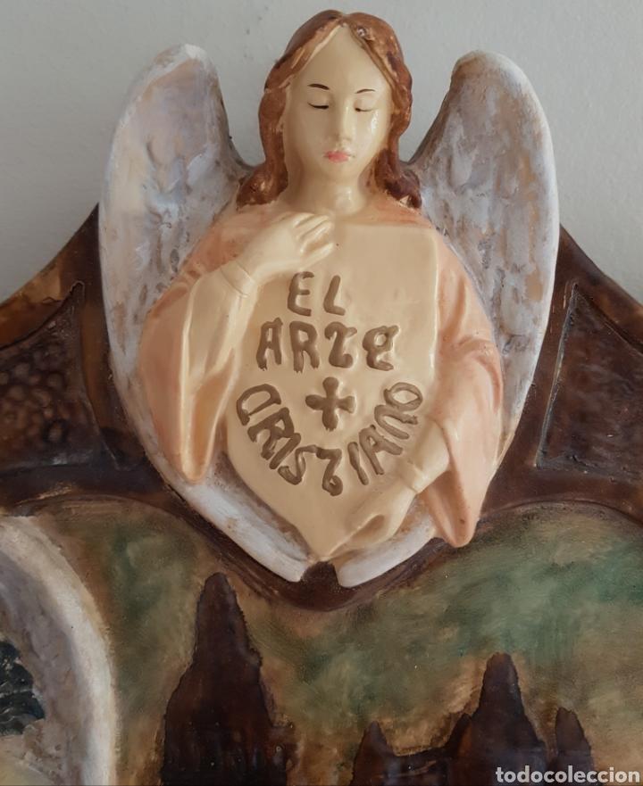 Arte: Arte Cristiano olot - Plafón,Vayreda.Pasta de madera.Gerona.SXX.Raro. - Foto 3 - 139039180