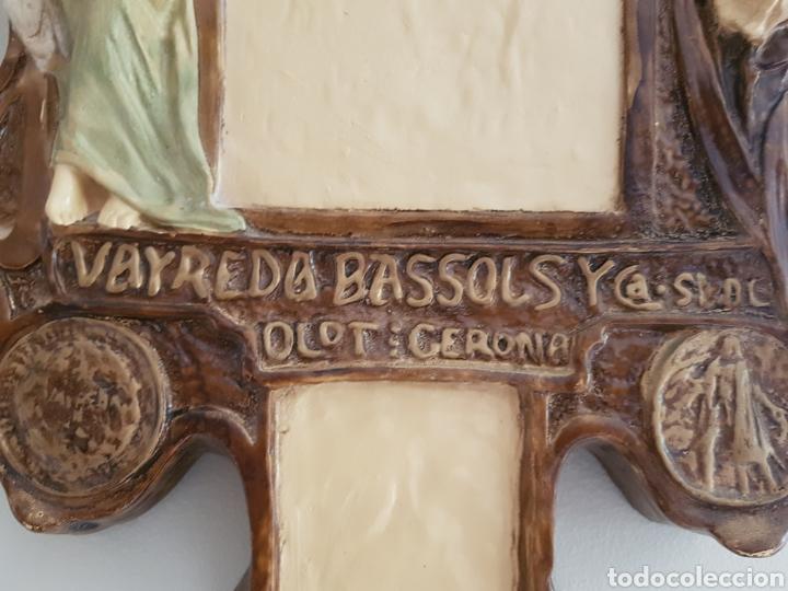 Arte: Arte Cristiano olot - Plafón,Vayreda.Pasta de madera.Gerona.SXX.Raro. - Foto 6 - 139039180