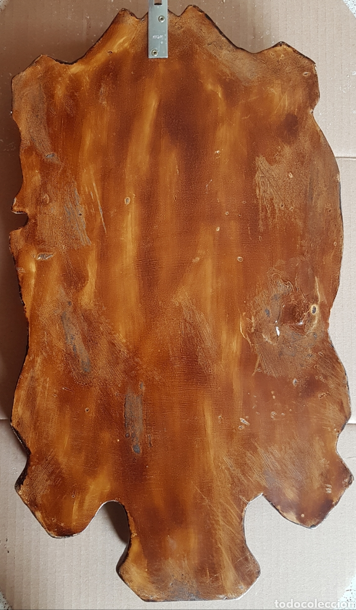 Arte: Arte Cristiano olot - Plafón,Vayreda.Pasta de madera.Gerona.SXX.Raro. - Foto 9 - 139039180