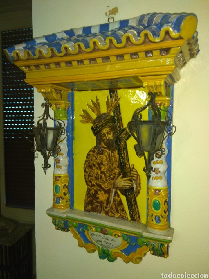 ANTIGUO RETABLO CERÁMICO JESÚS DEL GRAN PODER (Arte - Arte Religioso - Retablos)