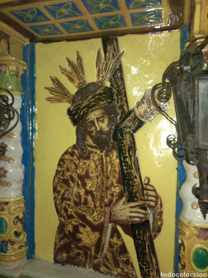Arte: Antiguo Retablo Cerámico Jesús Del Gran Poder - Foto 5 - 139098413