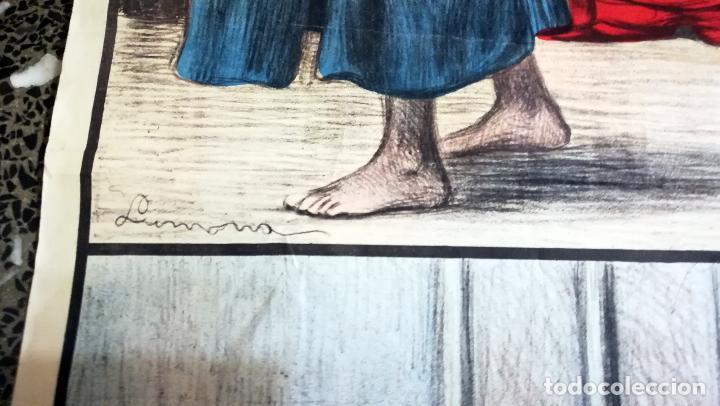 Arte: Cartel nº 10- LA REDENCION- MILAGROS DE JESUCRISTO. Ilustraciones Llimona . Edit.- José Vilamala. - Foto 4 - 139119546