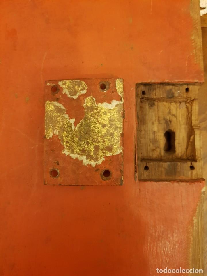 Arte: Óleo sobre tabla de roble. Puerta de sagrario. Resurrección de Cristo. Escuela española. S. XVI-XVII - Foto 6 - 119485299