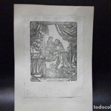 Arte: SIGLO XIX GRABADO XILOGRAFICO SAN ANTONIO DE PADUA - RELIGION. Lote 139207194