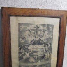 Arte: LITOGRAFIA DE NUESTRA SEÑORA DE LAS ANGUSTIAS, FABRICA DE FRANCISCO MITJANA, MALAGA, SIGLO XIX.. Lote 139229546