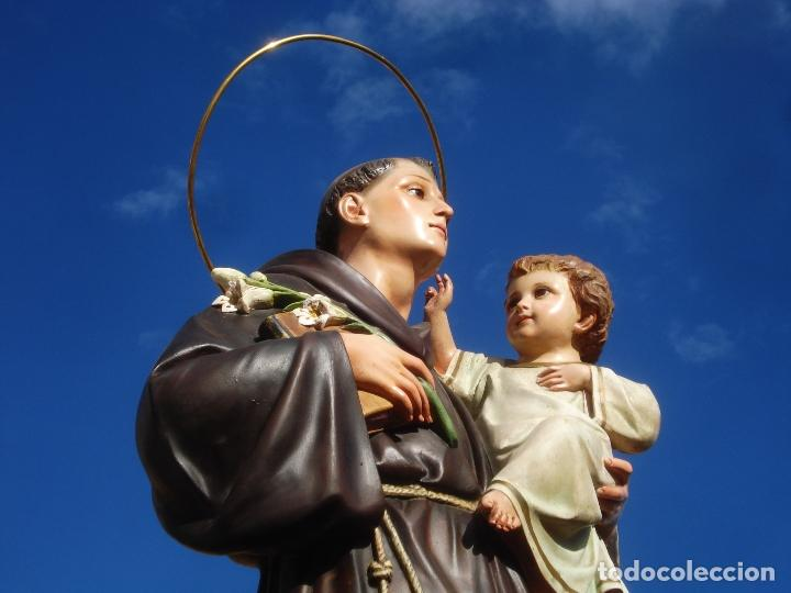 IMPRESIONANTE SAN ANTONIO EL ARTE CRISTIANO GRAN SAN ANTONIO CON NIÑO GRANDES MEDIDAS (Arte - Arte Religioso - Escultura)