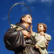 Arte: IMPRESIONANTE SAN ANTONIO EL ARTE CRISTIANO GRAN SAN ANTONIO CON NIÑO GRANDES MEDIDAS. Lote 125883499