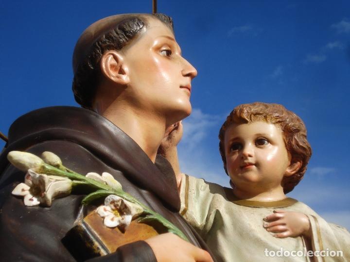 Arte: IMPRESIONANTE SAN ANTONIO EL ARTE CRISTIANO GRAN SAN ANTONIO CON NIÑO GRANDES MEDIDAS - Foto 12 - 125883499