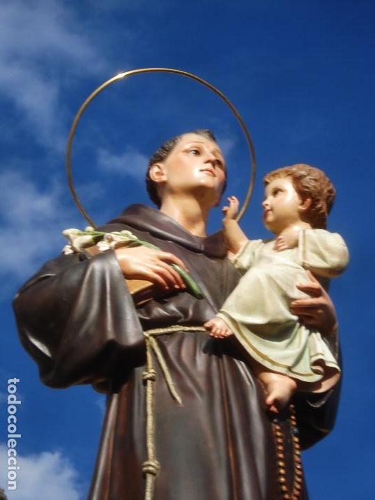 Arte: IMPRESIONANTE SAN ANTONIO EL ARTE CRISTIANO GRAN SAN ANTONIO CON NIÑO GRANDES MEDIDAS - Foto 14 - 125883499
