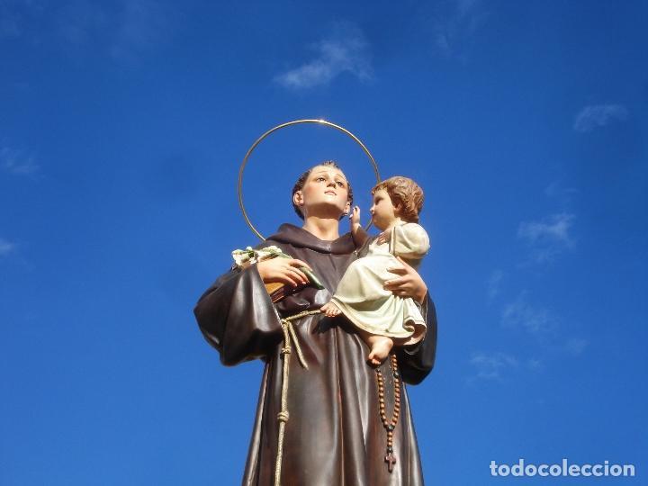 Arte: IMPRESIONANTE SAN ANTONIO EL ARTE CRISTIANO GRAN SAN ANTONIO CON NIÑO GRANDES MEDIDAS - Foto 21 - 125883499