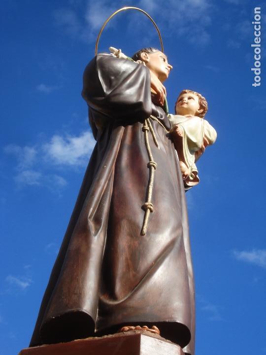 Arte: IMPRESIONANTE SAN ANTONIO EL ARTE CRISTIANO GRAN SAN ANTONIO CON NIÑO GRANDES MEDIDAS - Foto 10 - 125883499