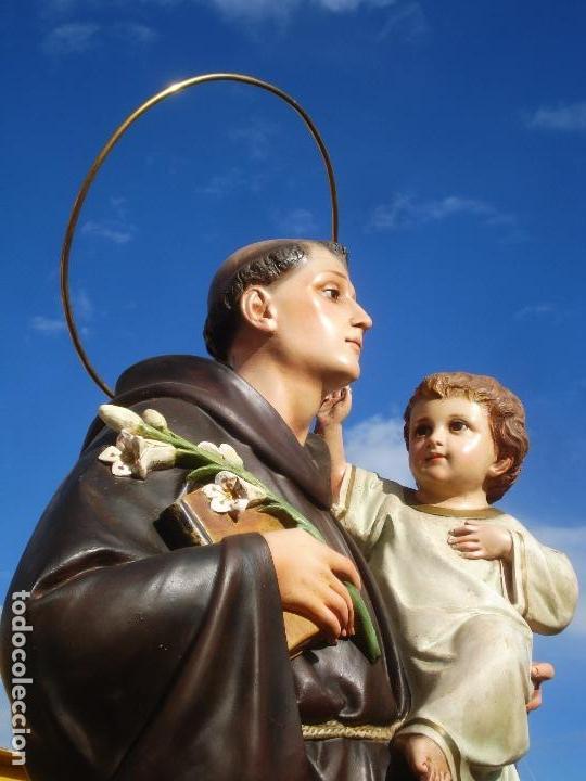 Arte: IMPRESIONANTE SAN ANTONIO EL ARTE CRISTIANO GRAN SAN ANTONIO CON NIÑO GRANDES MEDIDAS - Foto 22 - 125883499