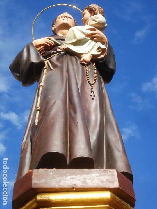 Arte: IMPRESIONANTE SAN ANTONIO EL ARTE CRISTIANO GRAN SAN ANTONIO CON NIÑO GRANDES MEDIDAS - Foto 5 - 125883499