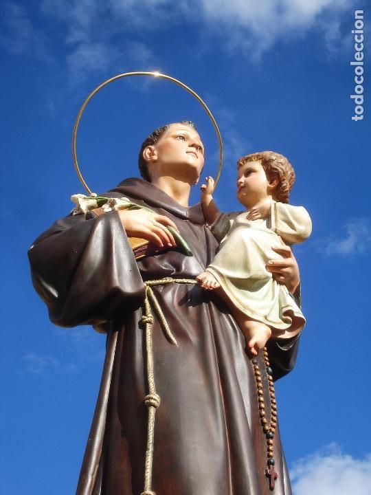 Arte: IMPRESIONANTE SAN ANTONIO EL ARTE CRISTIANO GRAN SAN ANTONIO CON NIÑO GRANDES MEDIDAS - Foto 23 - 125883499