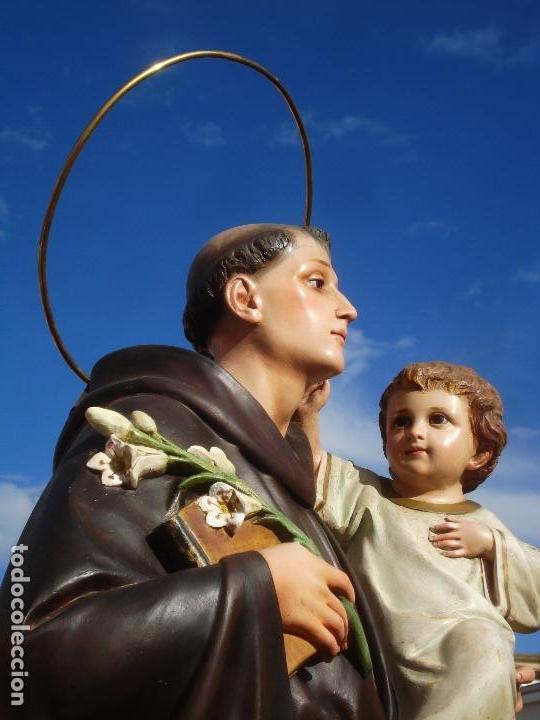 Arte: IMPRESIONANTE SAN ANTONIO EL ARTE CRISTIANO GRAN SAN ANTONIO CON NIÑO GRANDES MEDIDAS - Foto 24 - 125883499