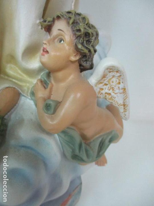 Arte: Preciosa Virgen Purísima - Estuco Policromado - 89 cm Altura - Sello El Arte Cristiano, Olot - Foto 4 - 139312310