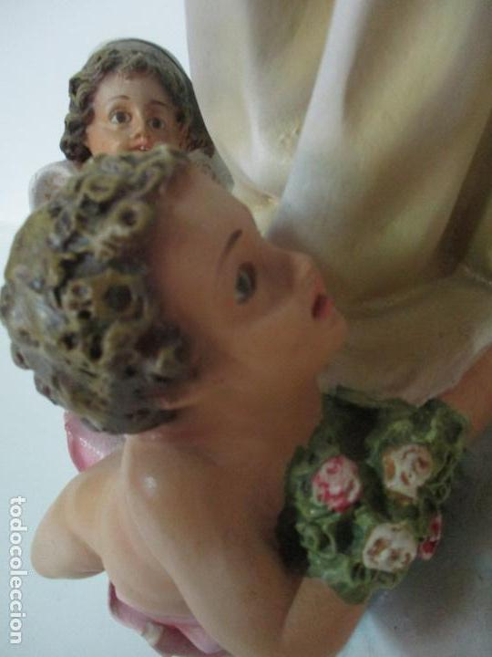 Arte: Preciosa Virgen Purísima - Estuco Policromado - 89 cm Altura - Sello El Arte Cristiano, Olot - Foto 7 - 139312310