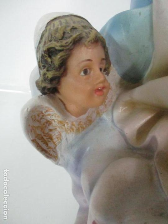 Arte: Preciosa Virgen Purísima - Estuco Policromado - 89 cm Altura - Sello El Arte Cristiano, Olot - Foto 8 - 139312310