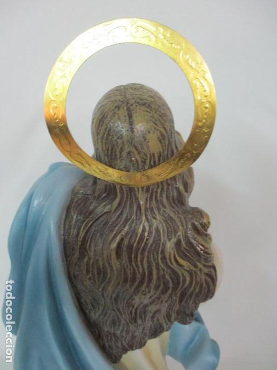 Arte: Preciosa Virgen Purísima - Estuco Policromado - 89 cm Altura - Sello El Arte Cristiano, Olot - Foto 24 - 139312310