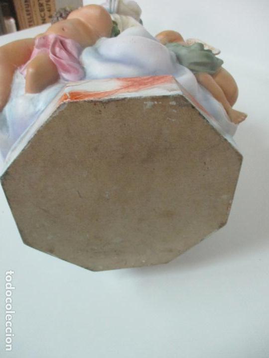 Arte: Preciosa Virgen Purísima - Estuco Policromado - 89 cm Altura - Sello El Arte Cristiano, Olot - Foto 29 - 139312310