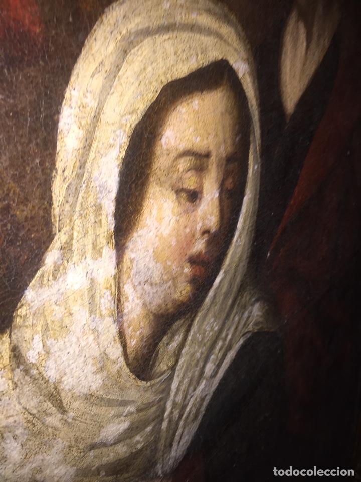 Arte: Óleo sobre tela escuela andaluza(pieza para ver en Mallorca) - Foto 8 - 195150618