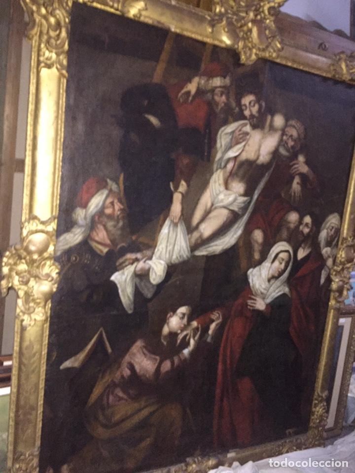 Arte: Óleo sobre tela escuela andaluza(pieza para ver en Mallorca) - Foto 16 - 195150618