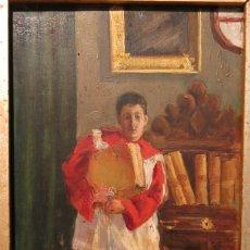 Arte: EL COTERO (MONAGUILLO). ESCUELA VALENCIANA. FECHADO 1902.. Lote 139360222