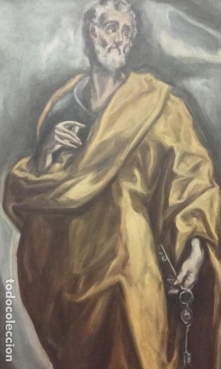 Arte: Excelente copia antigua de San Pedro / El Greco - Foto 2 - 139390430