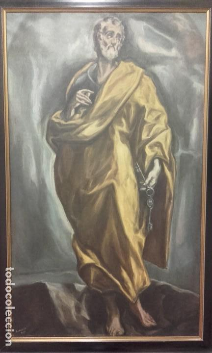 Arte: Excelente copia antigua de San Pedro / El Greco - Foto 3 - 139390430