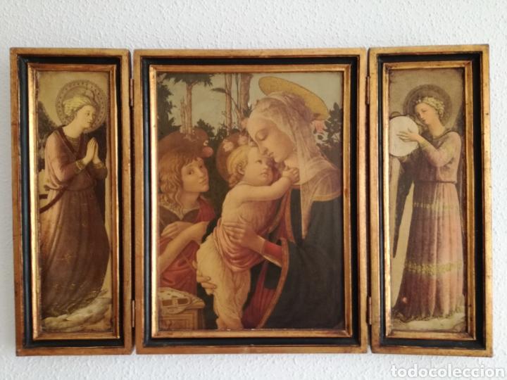 ANTIGUO TRIPTICO RELIGIOSO. (Arte - Arte Religioso - Trípticos)