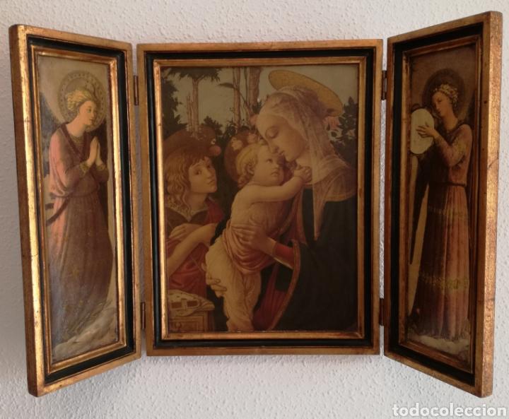 Arte: Antiguo Triptico Religioso. - Foto 2 - 139407302