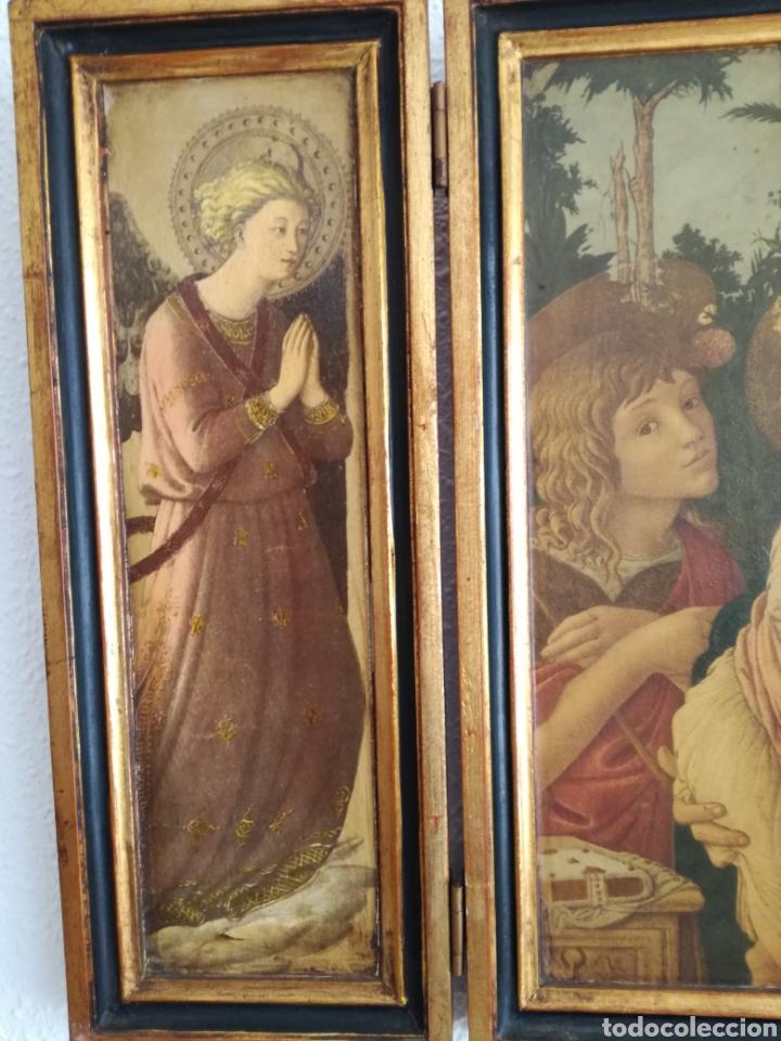 Arte: Antiguo Triptico Religioso. - Foto 3 - 139407302