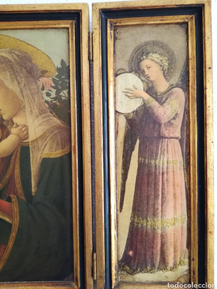 Arte: Antiguo Triptico Religioso. - Foto 4 - 139407302