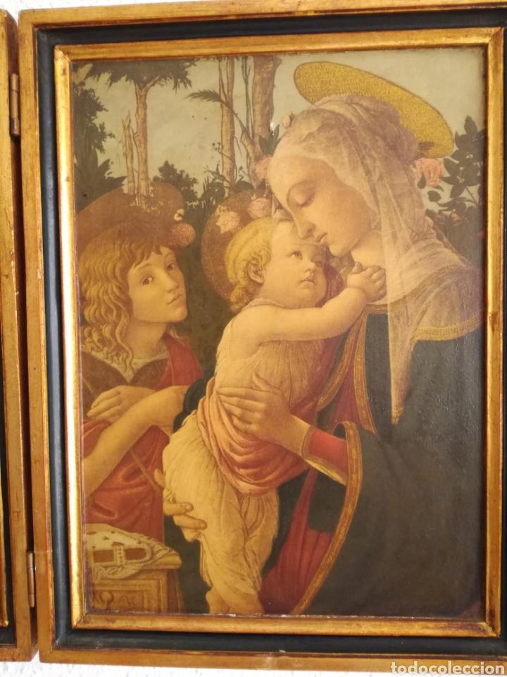 Arte: Antiguo Triptico Religioso. - Foto 5 - 139407302