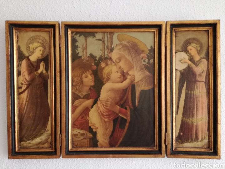 Arte: Antiguo Triptico Religioso. - Foto 6 - 139407302