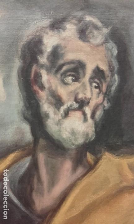 Arte: Excelente copia antigua de San Pedro / El Greco - Foto 4 - 139390430