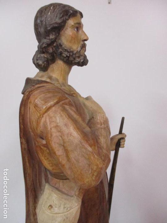 Arte: Impresionante Imagen de San Isidro Labrador - Patrón de la Ciudad de Madrid - Pieza Única - S. XIX - Foto 54 - 139552894