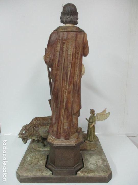 Arte: Impresionante Imagen de San Isidro Labrador - Patrón de la Ciudad de Madrid - Pieza Única - S. XIX - Foto 55 - 139552894