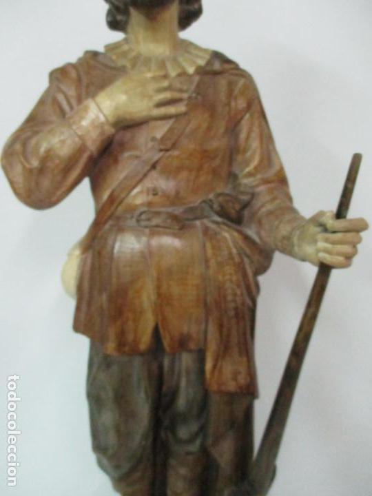 Arte: Impresionante Imagen de San Isidro Labrador - Patrón de la Ciudad de Madrid - Pieza Única - S. XIX - Foto 73 - 139552894